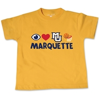 Marquette Golden Eagles Toddler BB Emoji Tee