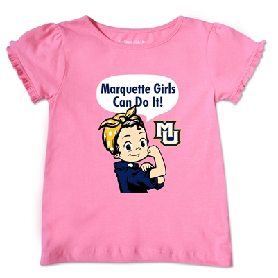 Marquette Golden Eagles Toddler Marquette Girls Can Tee