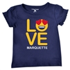 Marquette Golden Eagles Toddler Girls Love Emoji Tee