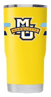 Marquette University Stripe Gold Insulated 20 oz Tumbler