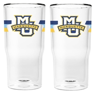 Marquette University Double Wall Insulated Pint Glass Set of 2
