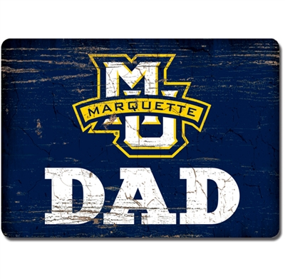 Marquette University Dad Wood Magnet