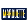 Marquette University Line Up Wood Magnet