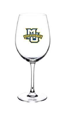 Marquette University Wine Glass