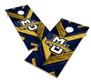 Marquette Solid Wood 2x4 Cornhole Board Set Herringbone Design