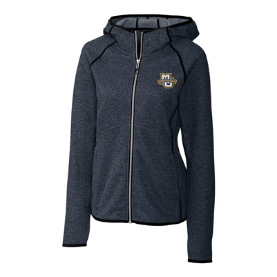 Marquette University Ladies' Mainsail Navy Hooded Jacket