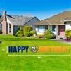 Marquette Happy Birthday Lawn Sign