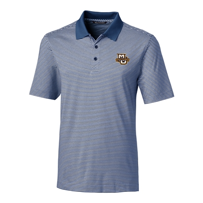 Marquette University Forge Indigo Tonal Stripe Polo