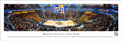 Marquette Golden Eagles Fiserv Forum Panoramic Poster
