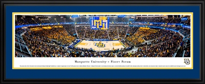 Marquette Golden Eagles Fiserv Forum Panoramic Photo - Deluxe Frame