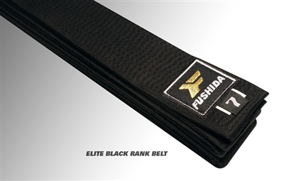 Fushida ELITE Black Rank Judo Belt