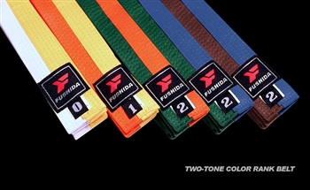 Fushida Judo Two-Tone Color Belt
