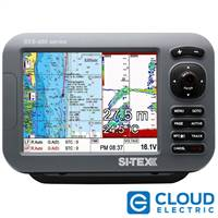 "SI-TEX SVS-880CF 8"" Chartplotter/Sounder Combo w/Internal GPS Antenna & Navionics+ Flexible Coverage Chart Card"