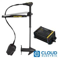 "Minn Kota Edge 55 Freshwater, Bow Mount, Foot Control, Latch & Door Bracket - 12V, 55lbs, 45"" shaft with Free MK 106D On-Board Charger"