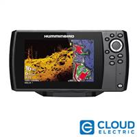 Humminbird HELIX® 7 CHIRP MEGA DI Fishfinder/GPS Combo G3 with Navionics+ and Transom Mount Transducer
