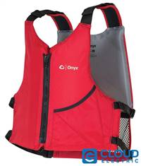 Onyx Universal Paddle Life Vest, Red, One Size