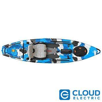 Feel Free Lure 11.5 Kayak w/Sonar and Electronic Pod - Blue Camo