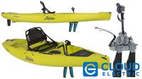 Hobie 2018 Mirage Compass Pedal Kayak w/Reverse Drive Turbo Fins (Seagrass Green)