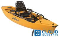 Hobie Mirage Pro Angler 12 2018 Fishing Kayak With MD180 Turbo Drive Reverse , Papaya Orange #: 86230008