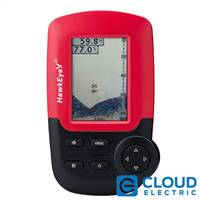 HawkEye FishTrax™ 1C Handheld Fish Finder w/HD Color VirtuView™ Display
