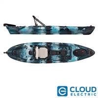 Vibe Kayaks Sea Ghost 110 | 11 Foot | Angler Sit On Top Fishing Kayak with Paddle and Adjustable Hero Comfort Seat (Blue Camo)