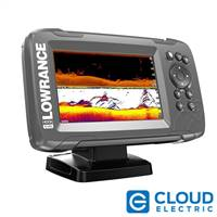 "Lowrance HOOK2-5 5"" Chartplotter/Fishfinder SplitShot Transom Mount Transducer w/Built-In US Inland Charts"