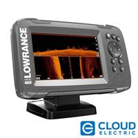 "Lowrance HOOK²-5 5"" Chartplotter/Fishfinder TripleShot Transom Mount Transducer w/Built-In US Inland Charts"