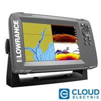 "Lowrance HOOK2-7 7"" Chartplotter/Fishfinder SplitShot Transom Mount Transducer w/Built-In US Inland Charts"