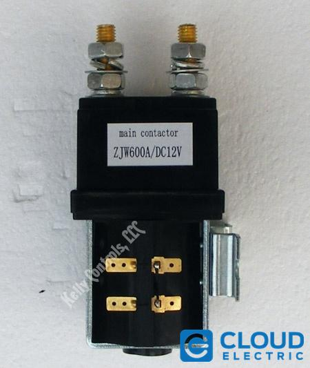 Contactor 12 Volt Coil 600 Amp On/OffCloud Electric