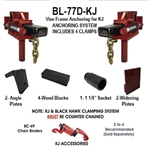 Body Loc BL-77D Frame Clamps - Truck Vise Clamps for Any Style Rack - Set of 4 - KJ Custom