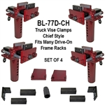 Body Loc BL-77D-CH Frame Clamps - Truck Vise Clamps for Any Style Rack - Set of 4