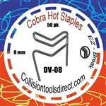 COBRA Hot Staples DV-08  Double Outside Corner 8mm  50 pk