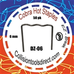 COBRA Hot Staples DZ-06  Z-Pattern 6mm  50 pk