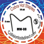 COBRA Hot Staples MW-08  M-Pattern 8mm  50 pk