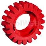 "Dynabrade 92255 4"" Diameter X 1-1/4"" Wide Red-Tred™ Eraser Wheel"