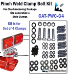 Chief Frame Machine Pinch Weld Clamp Bolt Kit - Generation 4