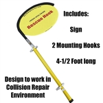 Insulated Rescue Hook For Electric Vehicle Repairs - 4-1/2 Foot