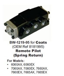 BW-1219-95 4-Way Air Controlled Piloted Valve (Spring Return) for Coats (OEM Ref 8181995, 181995)
