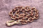 "Mo-Clamp 6010 3/8"" X 10' Chain with Grab Hook"