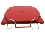 25-140 Quality Passenger Mild Steel Turnplates - Red