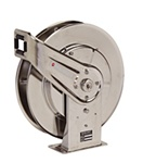 Reelcraft 7800 OMS 1/2 X 50ft, 3000 PSI, Stainless Steel Oil Hose Reel without Hose
