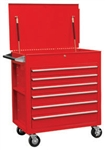 Sunex 8057 Full Drawer Professional Duty Service Cart-Red