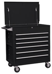 Sunex 8057BK Full Drawer Professional Duty Service Cart-Black