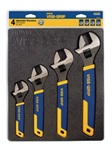 Irwin Vise-Grip 2078706 4 Pc. Adjustable Wrench Tray Set