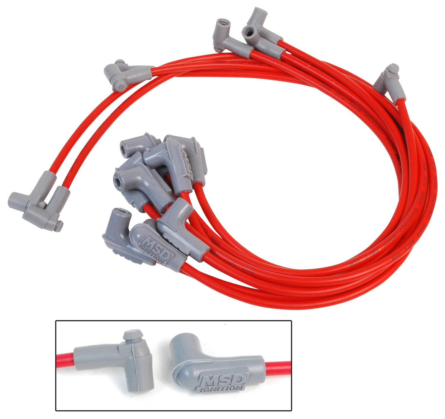 Chevy Spark Plug Cap On An Hei Distributor Wiring Wire Center Scope8217s Time Base Calibrator Msd 35659 Custom Sets At Atkhp Com Rh High Performance Engines