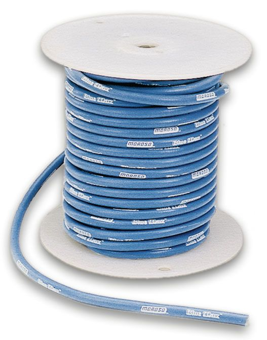 Moroso 72830 Blue Max; Solid Core Wire Spool; 8mm; 100 ft.; on
