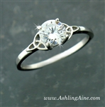 Sterling Silver Trinity Engagement Ring(BQ1001)