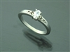 Sterling Silver Trinity Engagement Ring(BQ1002)