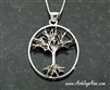 Large Sterling Silver  Family Tree Pendant/necklace, Tree of Life(BQ1010)