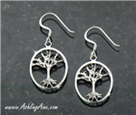 Sterling Silver Family Tree Earrings, Tree of Life, Christian earrings (BQ1011Tree-ear)